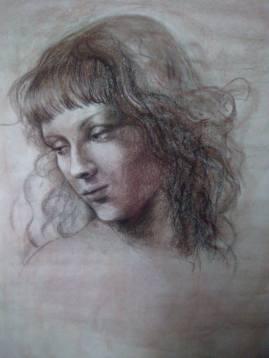 mon portrait façon Renaissance par Elodie